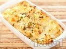 Рецепта Запечен карфиол (вегарианска запеканка) със сирене, яйца и течна сметана на фурна